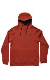 Hydro Flask Men's Logo Hooded Pullover Fleece - Brick