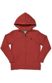 Hydro Flask Women's Logo Hooded Zip Fleece - Brick
