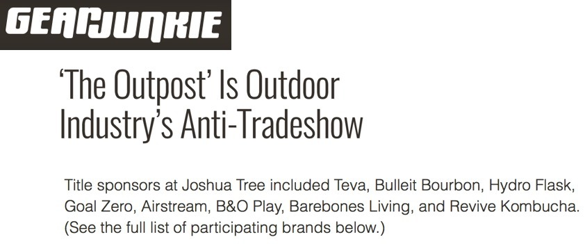 'The Outpost' Is Outdoor Industry's Anti-Tradeshow