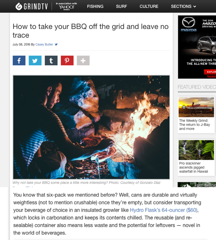 How to take your BBQ off the grid and leave no trace