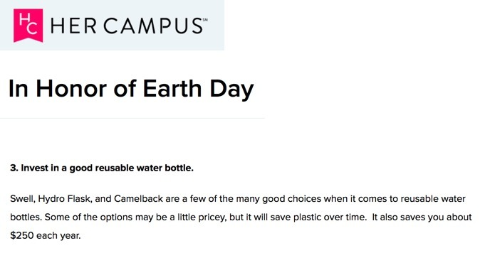 In Honor of Earth Day