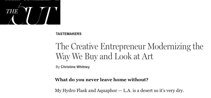 The Creative Entrepreneur Modernizing the Way We Buy and Look at Art
