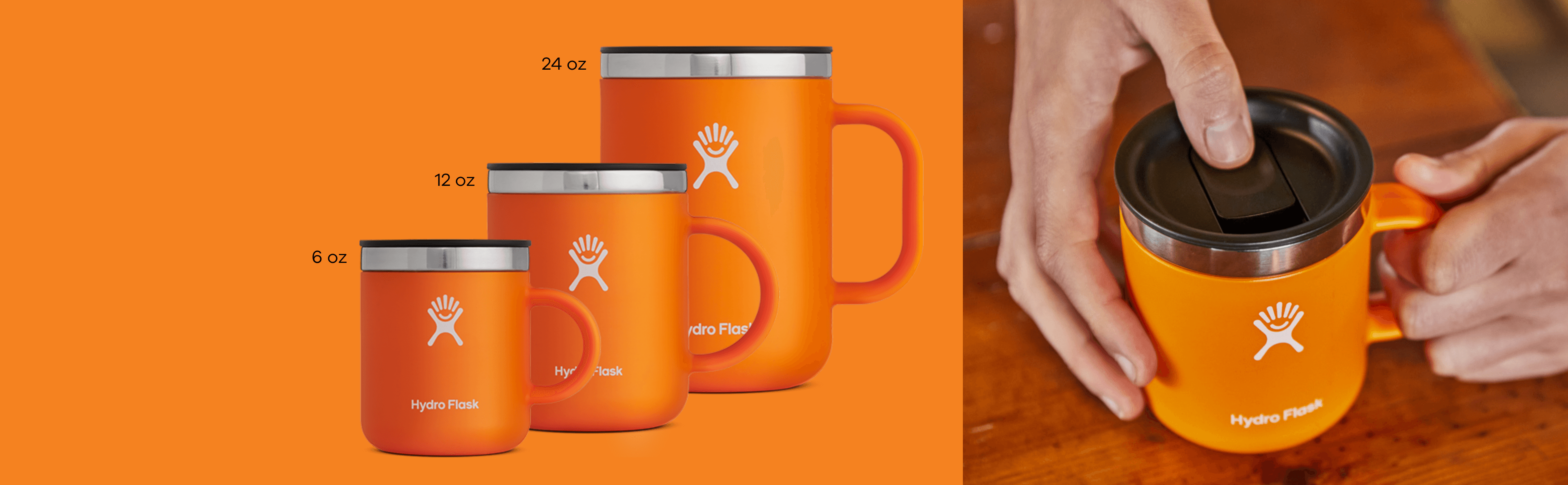 From espresso to juice, or the perfect cappuccino our 6, 12, and 24 oz Mugs are ready to give you a boost. Shop Mugs now!