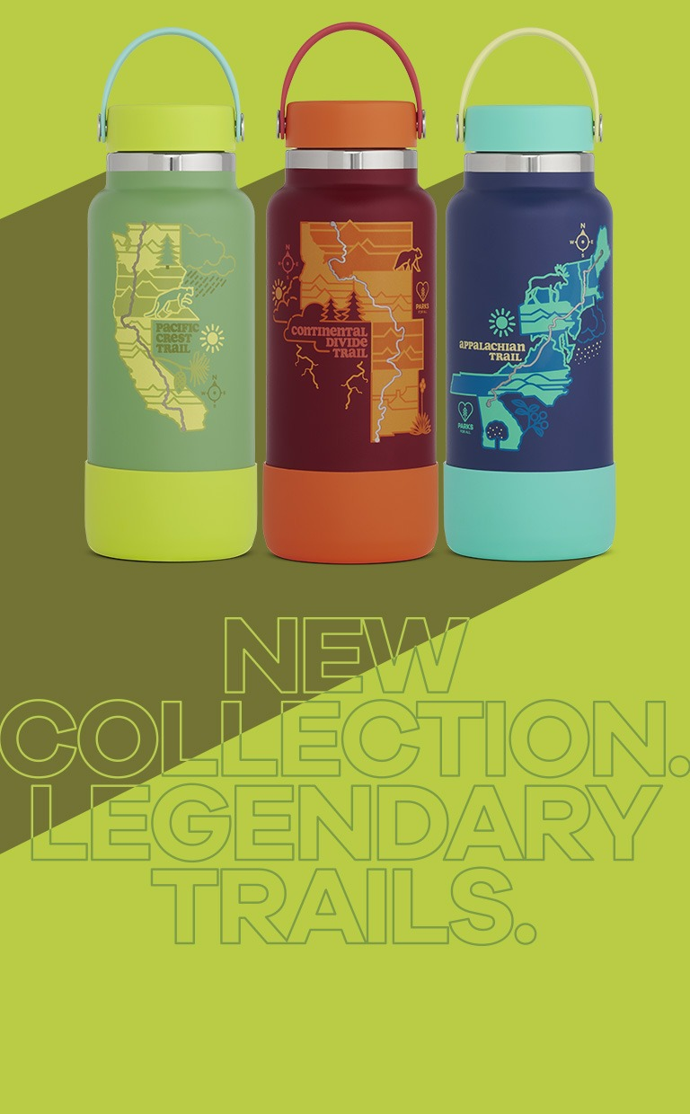 Our new Limited Edition series collection supports the stewardship of three legendary scenic trails. Shop the 32 oz and 20 oz Wide Mouth sizes now!