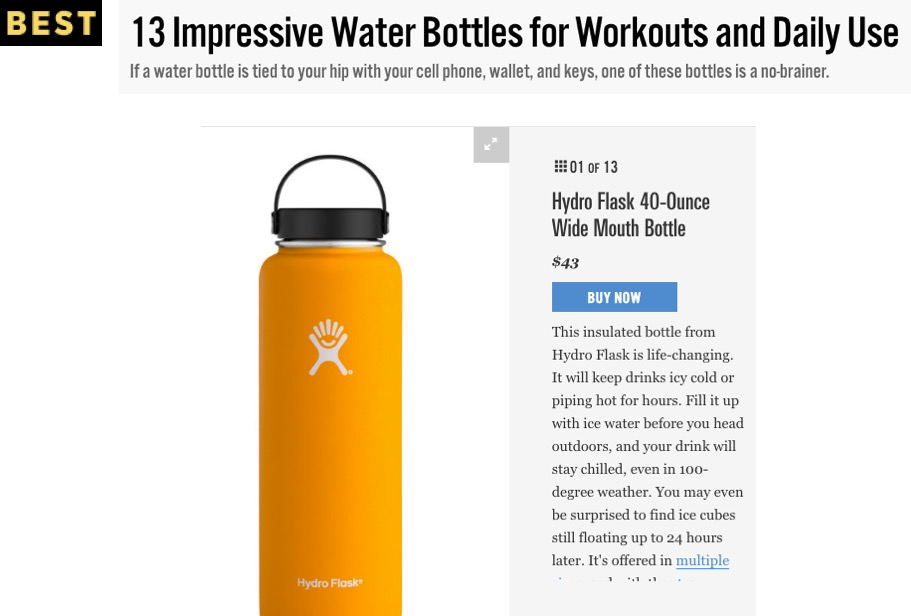 13 Impressive Water Bottles for Workouts and Daily Use