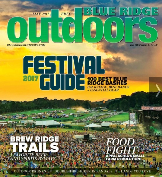 April 2017 Blue Ridge Outdoors Cover