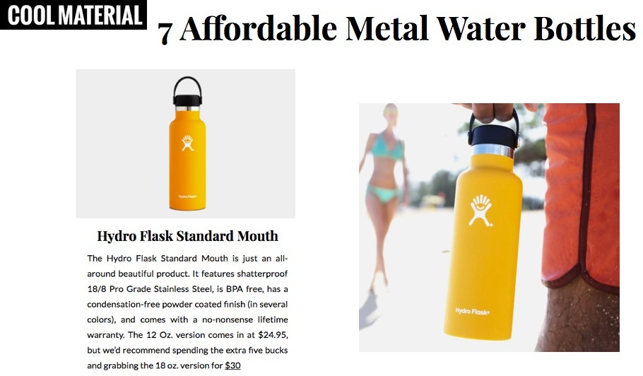 7 Affordable Metal Water Bottles