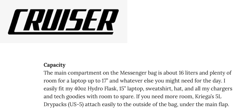Cruiser Messenger Bag Review