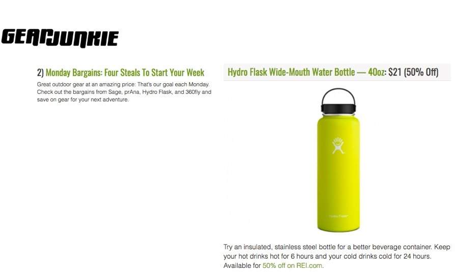 """Try an insulated, stainless steel bottle for a better beverage container."""