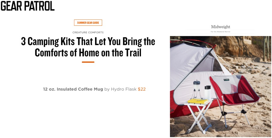 """... Bring the Comforts of Home on the Trail"""