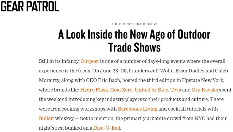 A Look Inside the New Age of Outdoor Trade Shows