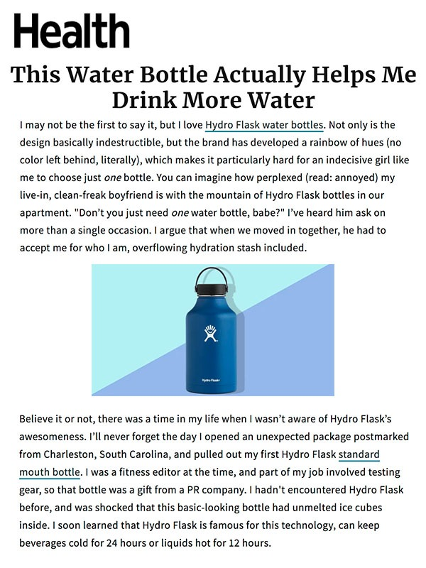 This Water Bottle Actually Helps Me Drink More Water