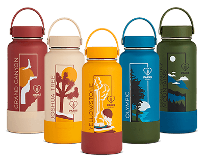 Shop the limited edition National Park x Parks for All collection featuring the Grand Canyon, Joshua Tree, Yellowstone, Olympic, and the Great Smoky Mountains.
