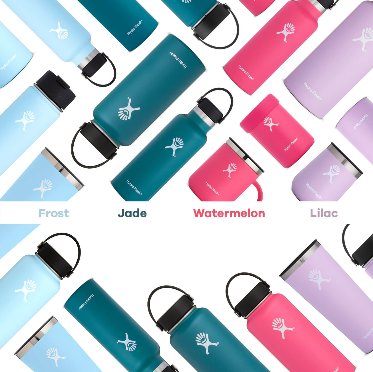 Mobile - Introducing new colors: Jade, Lilac, Watermelon, and Frost.