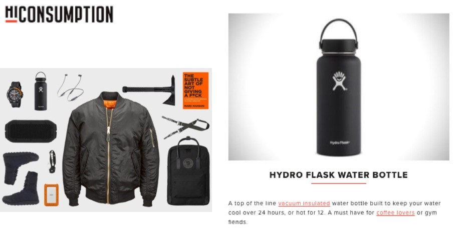 """A top of the line vacuum insulated water bottle..."""