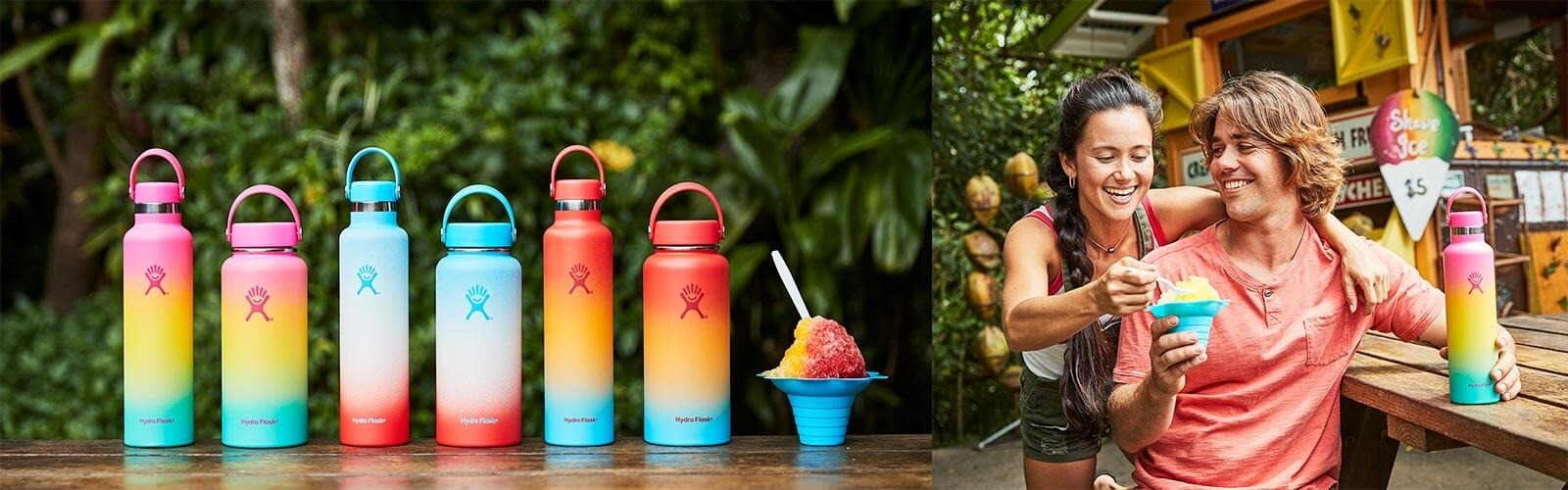 Our colorful ombré Shave Ice Collection celebrates the sweet, Hawaiian treat. Get your favorite while supplies last!