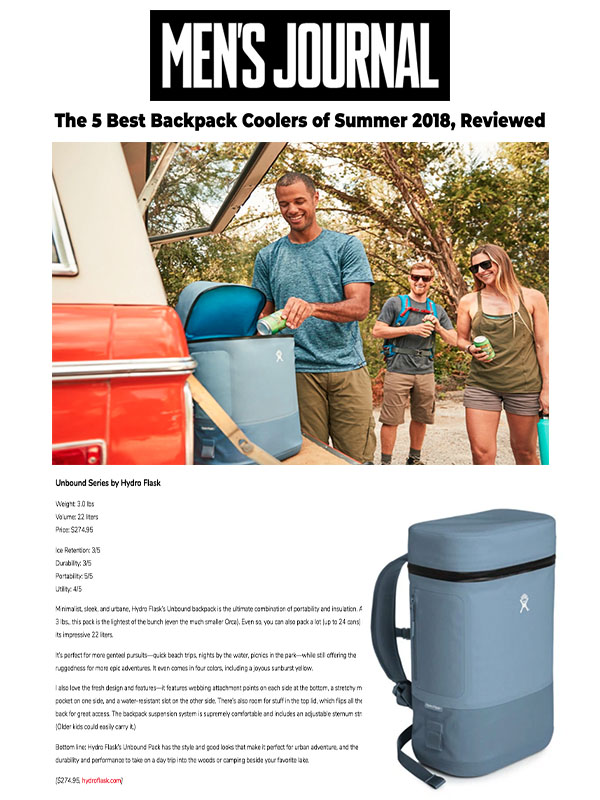 5 Best Backpack Coolers of Summer 2018