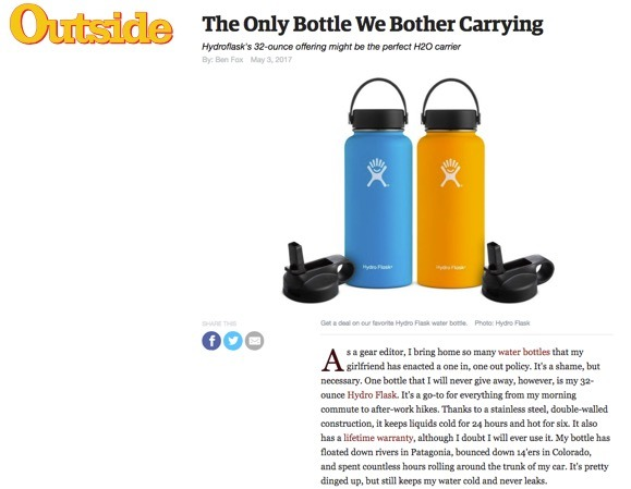 The Only Bottle We Bother Carrying