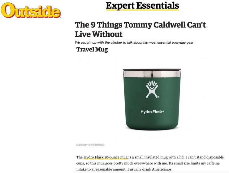 The 9 Things Tommy Caldwell Can't Live Without