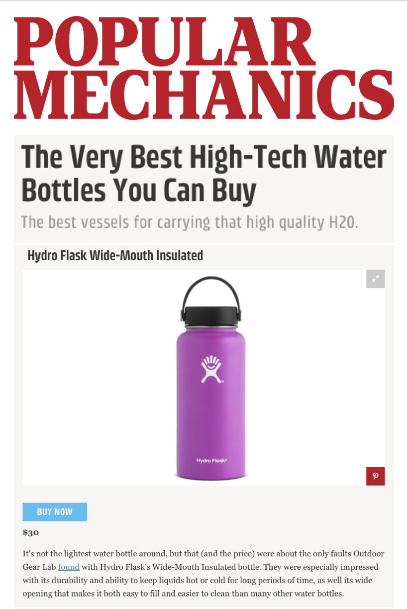 The Very Best High-Tech Water Bottles You Can Buy