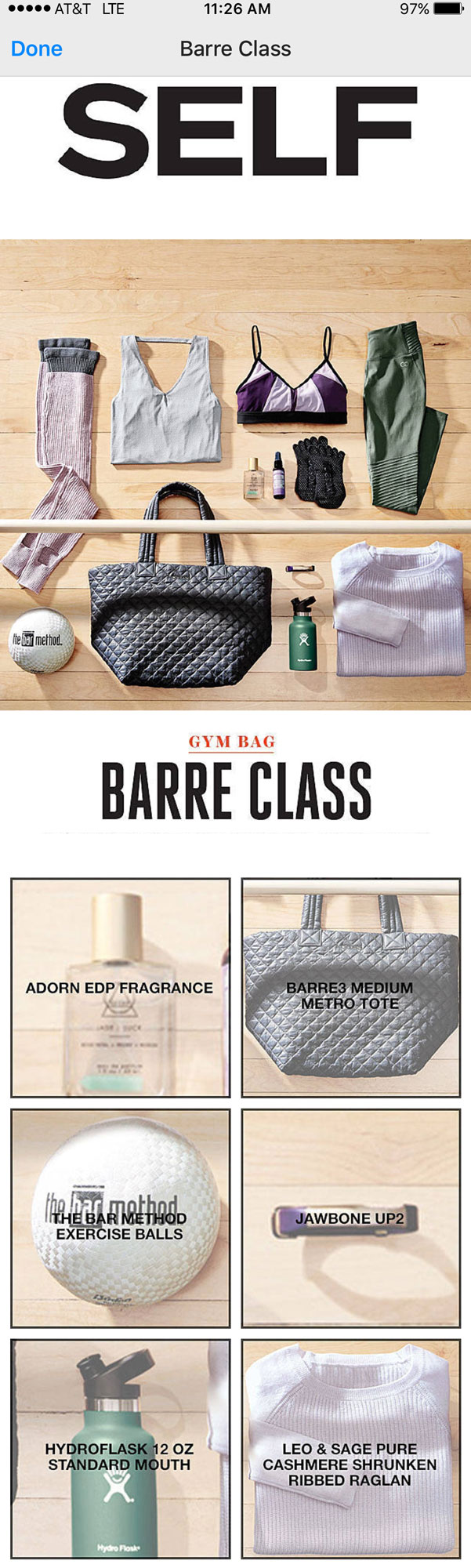 Gym Bag Barre Class