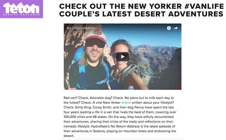 Check Out The New Yorker #VanLife Couple's Latest Desert Adventures