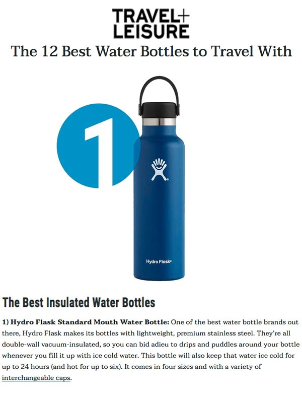 Best Water Bottles for Travel