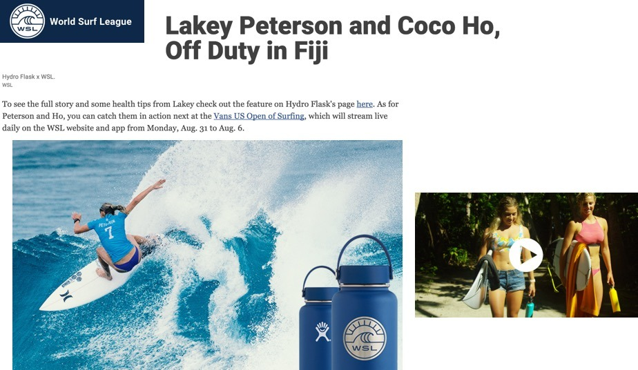 Lakey Peterson and Coco Ho, Off Duty in Fiji