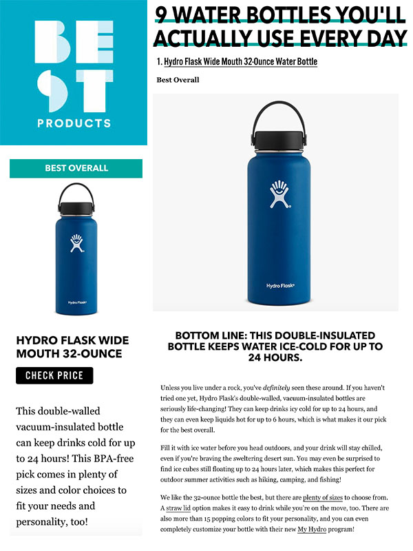 9 Water Bottles You'll Actually Use Every Day