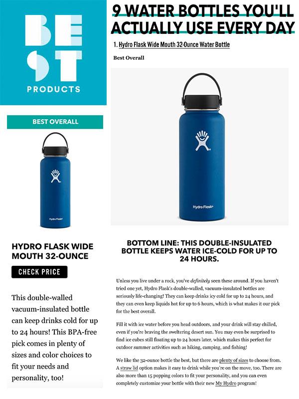 9Trinkflaschen, die du wirklich jeden Tag verwendest (englischer Artikel)