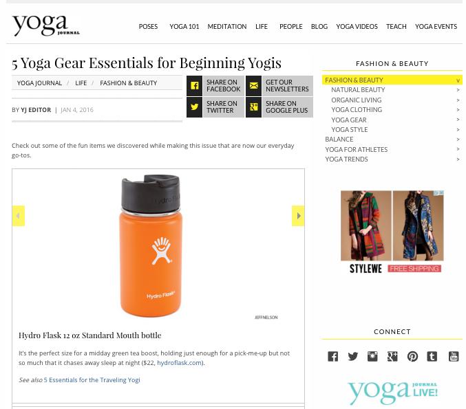 5accessoires indispensables pour yogis débutants (en anglais)